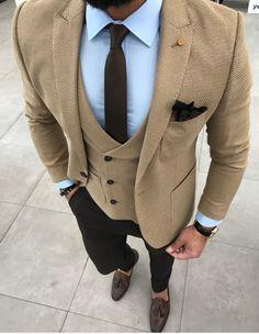Mens Fashion Suits, Mens Suits, Men's Fashion, Casual Suit, Men Casual, Blazer Outfits Men, Suit Combinations, Slim Fit Suits, Moda Chic