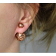 Náušnice dvojité Discoball   Womanology.sk #earrings #fashionjewelry #fashionjewellery #costumejewelry #costumejewellery #bijouterie #bijoux #fashion #style #accessories