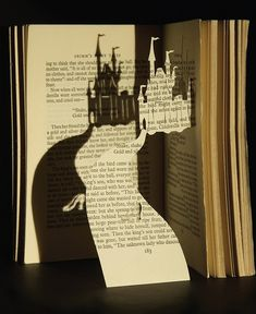 Cinderella's castle hand cut from a Grimm story book.