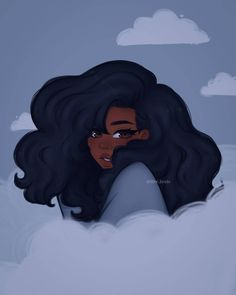 Black Love Art, Black Girl Art, Black Girl Aesthetic, Aesthetic Art, Drawings Of Black Girls, Arte Black, Black Girl Cartoon, Black Anime Characters, Disney Characters