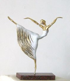 #Bronze Ballet Dancer Classical Dance Sculptures #sculpture by #artist Liubka…