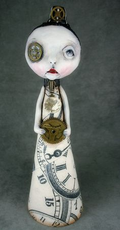 Steampunk Souls Art Doll Pop Surrealism by michelelynchart on Etsy, $125.00