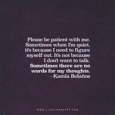 Sometimes When I'm Quiet