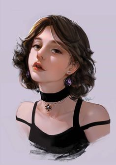 Digital Art Anime, Digital Art Girl, Potrait Painting, Girly Drawings, New Girl, Character Design Inspiration, Anime Art Girl, Character Illustration, Aesthetic Art