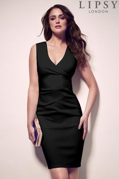 Buy Lipsy Pleated Bodycon Dress from the Next UK online shop