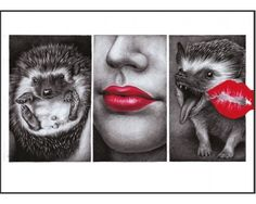 Postcard I hate kisses - Monika Jasnauskaite