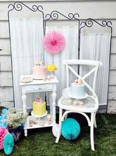 Spring & Easter desserts; dessert table