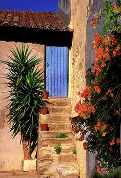 Blue door- Provence, France
