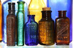 old vintage bottles