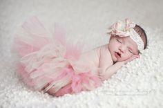 Tutu and Headband Set  Luxe Rose Beige  Newborn by wrenandribbon, $48.00