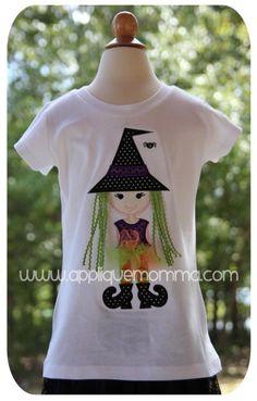 3D Witch Applique Design