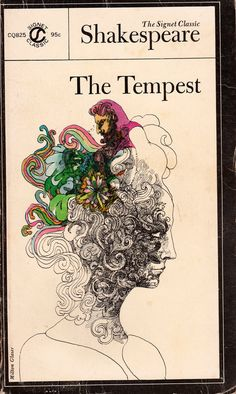 The Tempest doodle? Make all the spirals coming out of the head into the characters or scenes of the book?