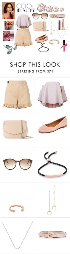 """Cool party"" by jamuna-kaalla ❤ liked on Polyvore featuring Ganni, Milly, Rochas, Frye, Yves Saint Laurent, Monica Vinader, Vita Fede, Shashi, Valentino and vintage"