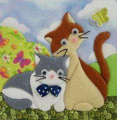 Applique Designs Free, Applique Patterns, Quilt Patterns, Cat Applique, Applique Quilts, Scrappy Quilts, Baby Quilts, Cat Template, Felt Pictures