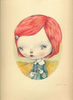 Dilkabear › ORIGINALS  Lola's Little Secret - Original drawing