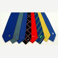 Printed Neck Ties personalised with your logo, brand or custom design in up to 4 spot colours. Promotional Clothing, Quick Quotes, Neck Ties, Corporate Gifts, Custom Design, Colours, Printed, Clothes, Logo