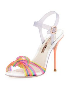 82598c7f2d7 Sophia Webster Coralie Ankle-Wrap Jelly Sandal, Multi Sophia Webster Shoes,  Jelly Sandals