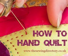 Hand quilting guide by Sarah Fielke More