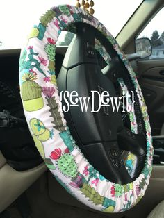 A personal favorite from my Etsy shop https://www.etsy.com/listing/587870772/steering-wheel-cover-cactus-cacti