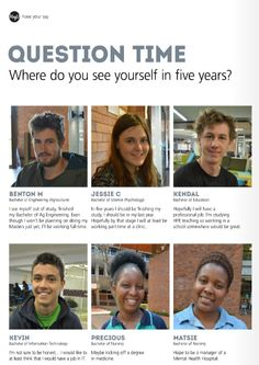 We asked our students where they saw themselves in 5 years... Here's what they had to say! - USQ