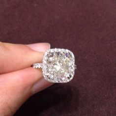 Beautiful Shape And Cushion Cut Halo But I Would Like If It More Had A Smaller Center Stone