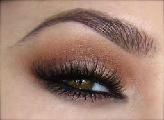 light neautral bronze heavily lined smoked eye #eyes #makeup #eyeshadow