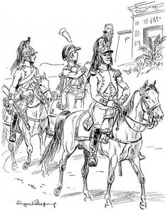 SOLDIERS- Leliepvre: NAP- France: French Dragoons in Egypt, by Eugène Leliepvre.