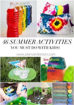 46 Summer Activities Your Kids Must Do - Plain Vanilla Mom