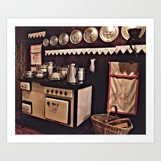 Granny's kitchen  Art Print by Guna Andersone - Gunadesign - $17.16