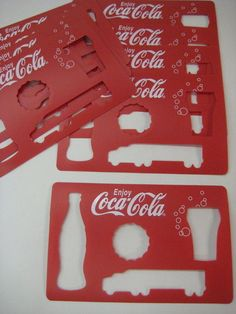 Coca Cola Coke RED Stencils Unique Collectible.  Have these... but sure wish they had the logo on it so I could use that!