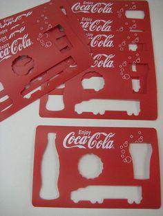 Coca Cola Coke RED Stencils Unique Collectible