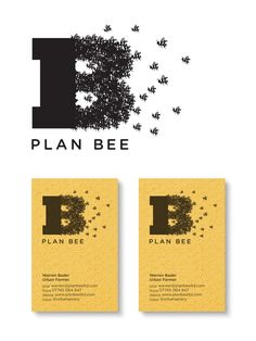 plan bee logo cards