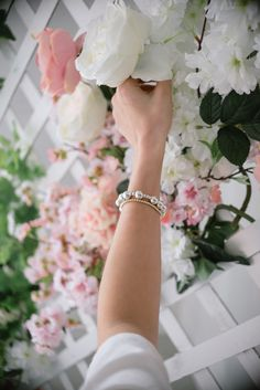 Layer it up, mix your metals and personalize our line of sterling silver or gold filled bracelets with one of our letters or charms.
