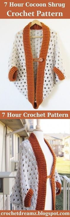 Quick crochet cocoon cardigan that can be made in 7-8 hours. A blanket sweater or cardigan even beginner crocheters can easily make. #cocooncardigancrochetpattern, #crochetblanketcardiganpattern, #crochetcocoonsweater, #crochetblanketsweater, #crochetcardiganpattern, #crochetclothing, #crochetcardigan, #crochetcocooncardiganpattern, #crochetbeginnerpattern
