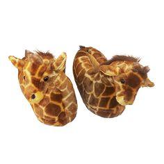 Happy Feet - Giraffe - Animal Slippers on Wanelo Giraffe Decor, Cute Giraffe, Giraffe Print, Giraffe Family, Zoo Animals, Animals For Kids, Giraffe Clothes, Cute Small Animals, Giraffes
