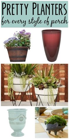 New planters are the quickest way to add curb appeal to your home!  Check out this roundup of pretty planters for every style of porch!