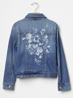 1969 floral embroidered denim jacket
