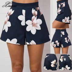 Purchase Fashion Women's Casual Summer High Waist Zipper Shorts Floral Printed Hot Pants from Bluelans on OpenSky. Shorts Outfits Women, Short Outfits, Short Dresses, Cute Outfits, Hot Shorts, Hot Pants, Como Fazer Short, Fashion Pants, Fashion Outfits
