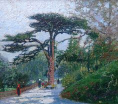 "Macowin Tuttle ""Cedar of Lebanon Paris"" 12x14 Oil on Canvas"