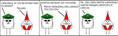 2x2 Dariaus versija - Keturkampis apskritimas lietuviški komiksai