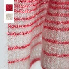Celeste Sjaal in rood en pearl