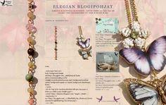 Elegia's Background Garden: Jewel ButterFlies Background - 2 columns