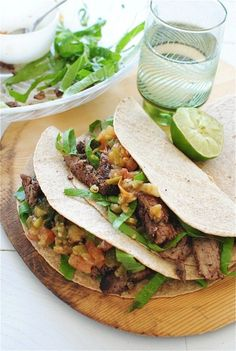 Spicy Steak Tacos | bevcooks.com
