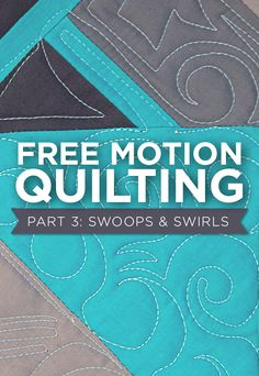 FREE TUTORIAL! Easy Free Motion Quilting lessons!