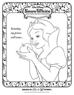 Free Printable Snow White and the Seven Dwarfs Coloring