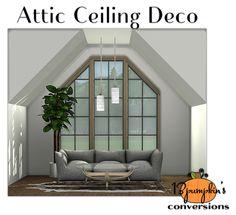 Sims 4 CC's - The Best: Attic Ceiling Deco by 13Pumpkin31