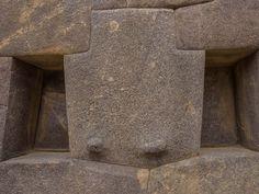 Sacred Valley, Peru - perfectly cut stones at Ollantaytambo Inca ruins