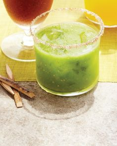 Tomatillo Mary, Martha Stewart  This ingenious twist on the classic Mary is slightly tarter. When tomatillos are pureed with cucumber and jalapeno, the juice takes on a gorgeous green color.