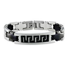 Ben+Moss+Jewellers+Internet+Exclusive.++Men's+Stainless+Steel+Bracelet+with+Black+Plating