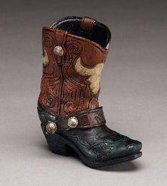 Danse Country, Buffalo Skull, Southwestern Decorating, Pencil Holder, Saddles, Cowboy Boots, Westerns, 3 D, Pottery
